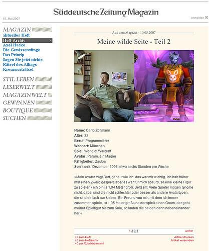 SZ Magazin vom 10.05.2007