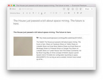 Screenshot of a bookmark made using the Evernote Web Clipper